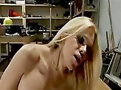 Worker gets hard anal fucking from busty ladyboy Paris