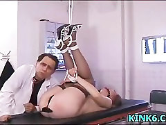 Extreme tit torture to babe