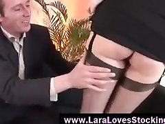 Stockings mature lady in high heels