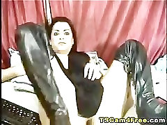 Tube Shemale Stroking Cock