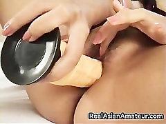 Pretty face asian in black lingerie part3