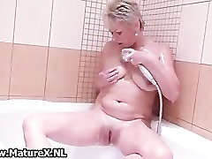 Blonde mature lady loves playing part5