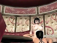 3D hentai ghetto gets licked her wetpussy