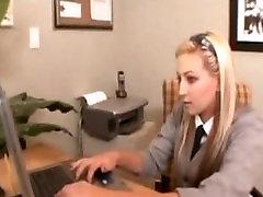 Blonde secretary making amazing sex
