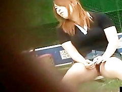 Asian girl T-back panties