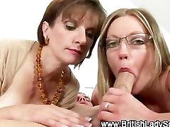 Mature brit ffm threesome suck and fuck