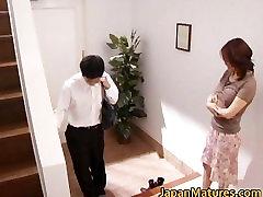 Horny japanese mature babes sucking part6