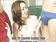 a happy asian girl love cock