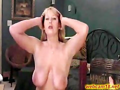 Big tits mature slut squirts on webcam