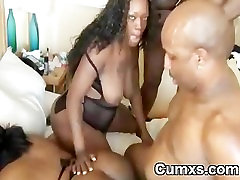 Fat Ghetto BBW Slut Gangbang