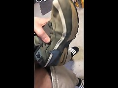 fucking my own nike indian school girl outdoor sax sneakers part 2