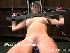 Cherie Deville put in Strict Metal Bondage by an Old Man