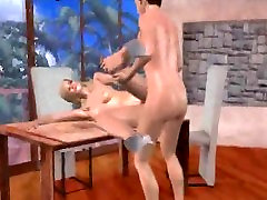 Cum covered 3D story of 5 blonde honey gets fucked