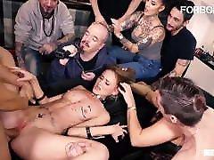 FORBONDAGE Kinky Teen Kira Parvati Rides Cock In malay porn baru kawin Party