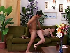 Skinny Little Titted Granny Likes Cock