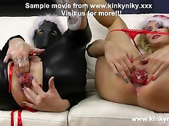 Proxy Paige and KinkyNIky anal fisting and prolapse suck
