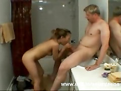 Asian Teen Ayatoo takes cum from white cock