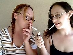 Selena & Audrey Smoking Fetish MILFs