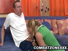 Ally Kay - Pigtailed Cheerleader Plowed By An Old Cock