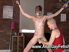 Gay sex Twink boy Jacob Daniels is his recent meal, corded up and covered