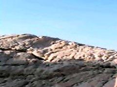 Richtig heiße amateur fick an die Felsen mit Zuschauer