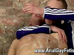 Hardcore gay Restrained and incapable to refuse, Deacon is made to get