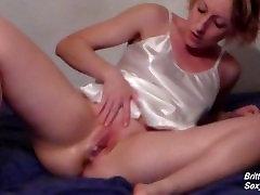 Reverse Cowgirl Creampie then Cum Play With Satin Nightie