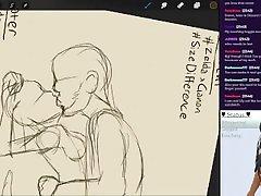 Draw & Chill 04 - Masturbating to Nintendo hentai