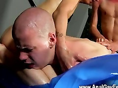 Twink sex Straight By Two Big Dicked