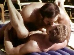 Beefy Vintage Gay Macho Icon Bruno Fucks Josh Kincaid Outdoors by the Pool