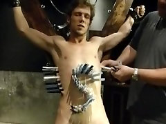 Bryce on the St. Andrews Cross at ExtremeBoyz.com
