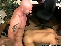Sexy gay Pervy boss Mitch Vaughn finally delves up enough leverage on new