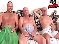 old grandpa and young gangbang. daddies piss and fuck with young girl.
