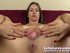 Lelu Love-Asshole Puckering Pussy Spreading Closeups