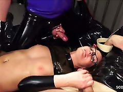 Real German teacher Izzy Mendosa loves an anal xxx kutombana bikira latex threesome