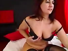 Sexy Busty Mature Fingering Hairy Pussy