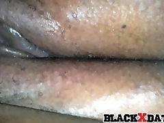Black pussy close up squirting