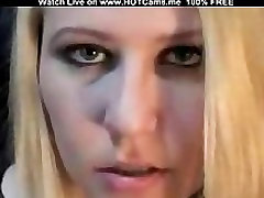 Blonde With Long Tongue On Webcam
