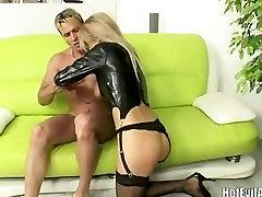 Super hot blonde Mandy Dee with big natural tits