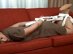 hogtied tickled in nylons