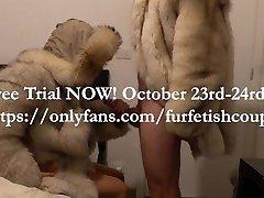 Fur fetish couple free trial announcement!