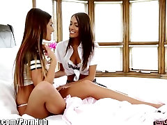 Girlsway August Ames and Janice Griffith Lesbian Licking