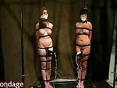 two girs tied orgasm torture