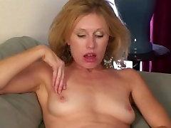 Holly Jones Masturbates Mature Hairy Pussy