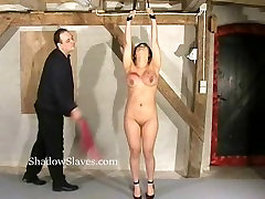 Tigerrs asian electro bdsm and oriental cattle prod torture of busty japan