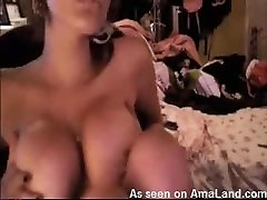 Busty webcam hottie with little pink panties