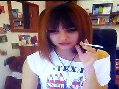 smoking webcam