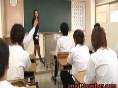 Junna Aoki Hot Asian teacher gets part1