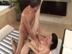 Mature Milf Mom Seduces Stepson for taboo Family sex in Bathroom