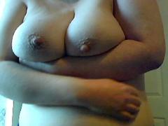 Showing off big tits
